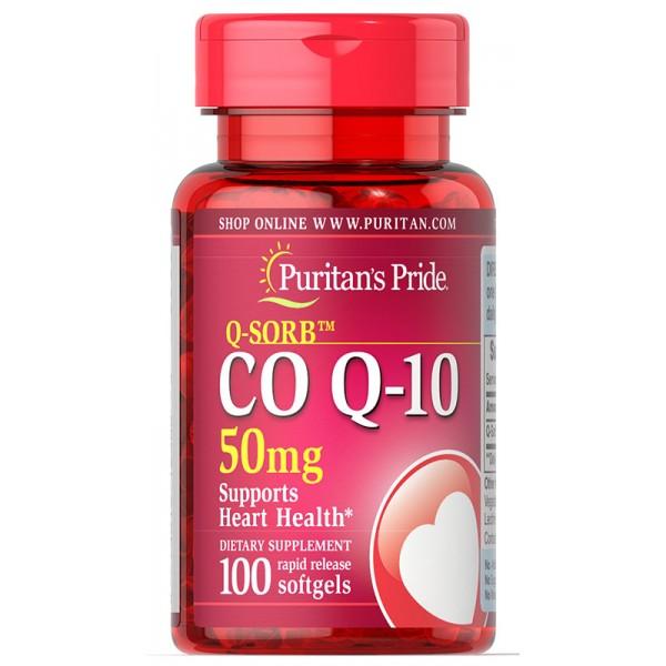Koencim Q-SORB™ Co Q-10 50 mg, 100 mehkih kapsul