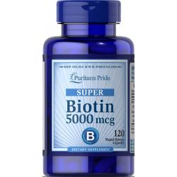 Biotin 5000mcg, 120 kapsul