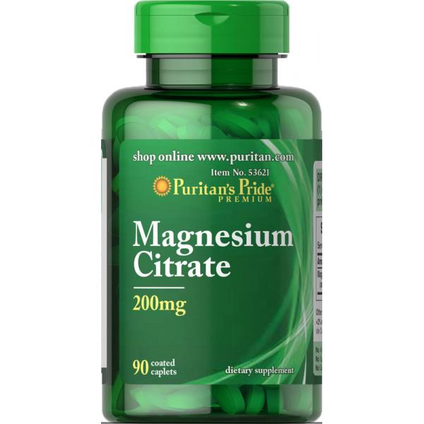 Magnezij citrat 200mg, 90 tablet