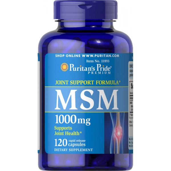 MSM 1000mg, 120 kapsul