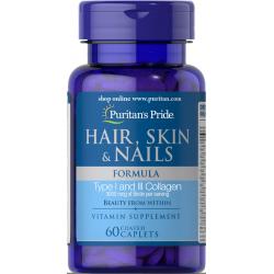 Vitaminska formula za lase, kožo in nohte, 60 tablet
